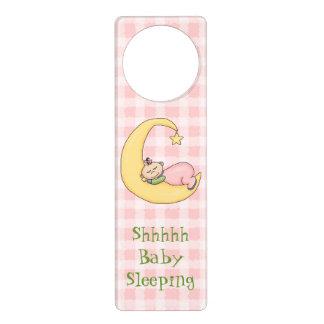 Pink Baby Sleeping Door Hanger