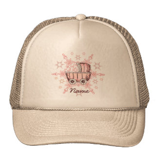 Pink Baby Snowflake Trucker Hats