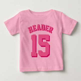 Pink Baby   Sports Jersey Baby T-Shirt