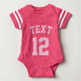 Pink Baby   Sports Jersey Design Baby Bodysuit