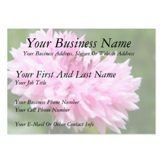 Pink Bachelor Button Business Card Templates