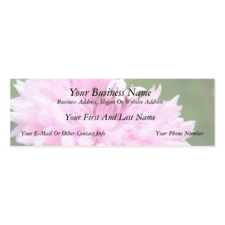 Pink Bachelor Button Pack Of Skinny Business Cards