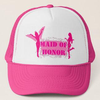 Pink bachelorette party trucker hat