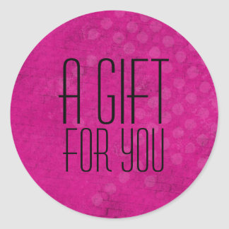 Pink Background A Gift For You Stickers