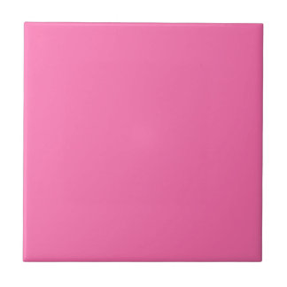 Pink Background Christmas Shopping Small Square Tile