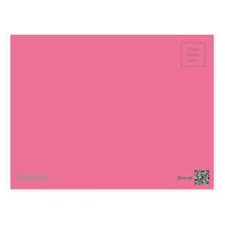 Pink Background Color Postcard
