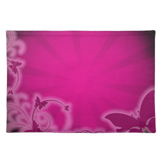 Pink Background Place Mats