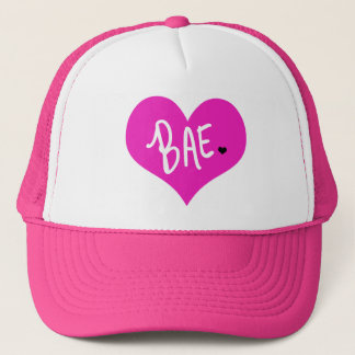 Pink BAE Love BF GF by Mini Brothers Trucker Hat