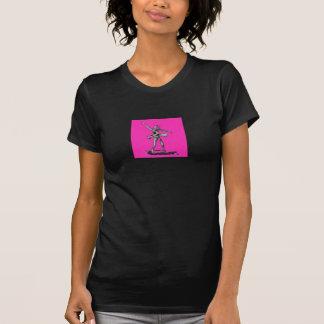 Pink Ballerina Balck T-Shirt