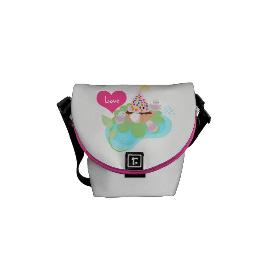 Pink ballerina birds bag by ORDesigns. Messenger Bags