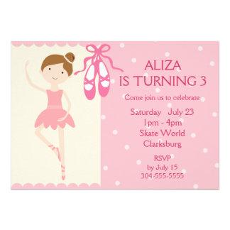 Pink Ballerina Birthday Party Custom Invitation