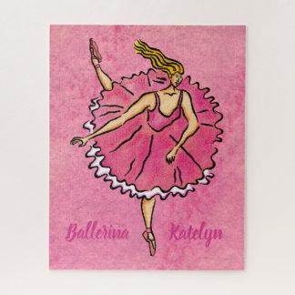 Pink Ballerina en Pointe Jigsaw Puzzle