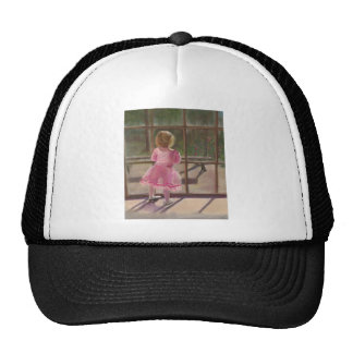pink ballerina mesh hat
