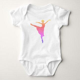 Pink Ballerina New Year Wishes Baby  Bodysuit