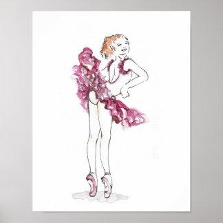 Pink Ballerina Posters