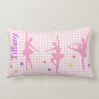 Pink Ballerinas Custom Accent Pillow