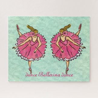 Pink Ballerinas en Pointe Jigsaw Puzzle