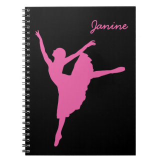 Pink Ballet Dancer Spiral Notebook