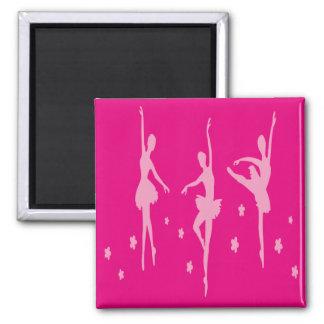 Pink Ballet Dancers  Magnet Dance Gift