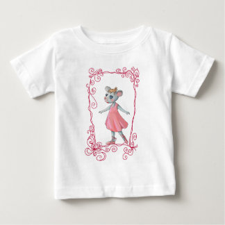 Pink Ballet Mouse Baby Shirt
