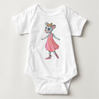 Pink Ballet Mouse Baby T-shirt