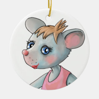 Pink Ballet Mouse Ornament