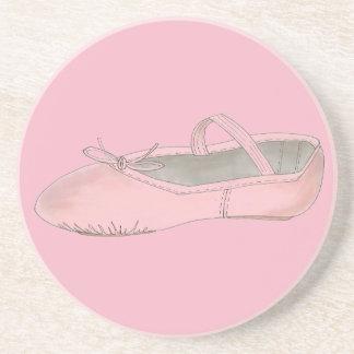 Pink Ballet Shoe Slipper Ballerina Dance Teacher Coaster
