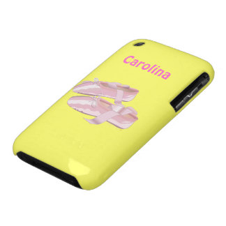 Pink Ballet Shoes Dancing Customizable iPhone 3 Covers