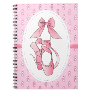 Pink Ballet Shoes Notebook
