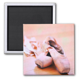 Pink Ballet Slipper Pointe Shoes Dance Template Magnets