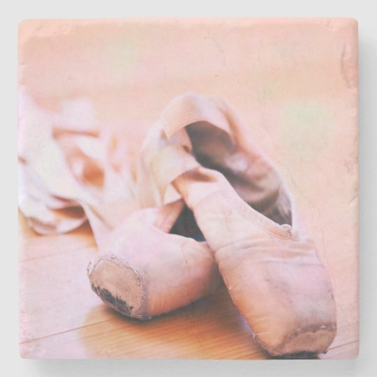 Pink Ballet Slipper Pointe Shoes Dance Template Stone