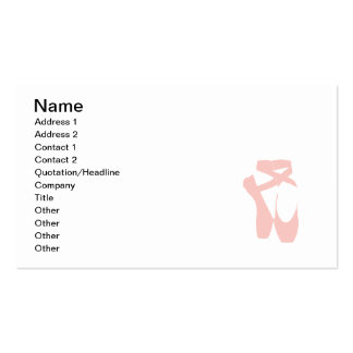 Pink Ballet Slippers Business Card Template
