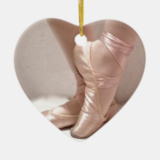 Pink Ballet Slippers Christmas Ornament