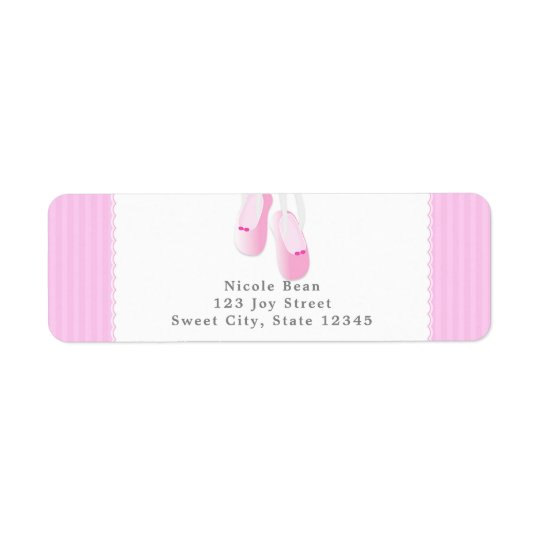 Pink Ballet Slippers Party Invitation Labels