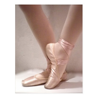 Pink Ballet Slippers Post Cards