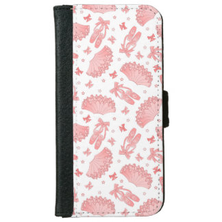 Pink Ballet Star Pattern iPhone 6 Wallet Case