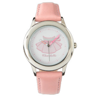 Pink Ballet Tutu Personalized Wristwatches