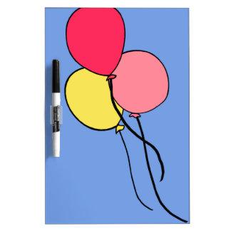 Pink  Ballons Dry Erase White Board
