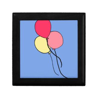 Pink  Ballons Trinket Box