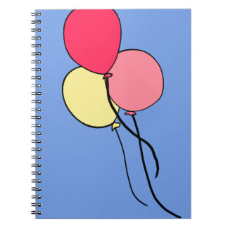 Pink  Ballons Spiral Note Book