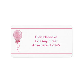 Pink Balloon 2 Address Label