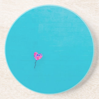 Pink Balloon Freedom on Teal Drink Coasters