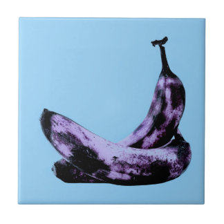 Pink Bananas Pop Art Tile