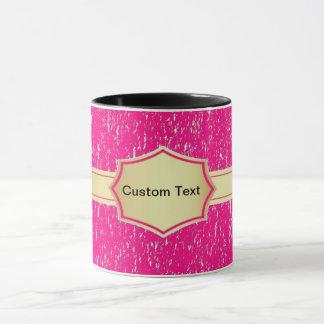 pink banner custom text coffee mug