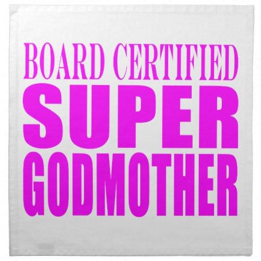 Pink Baptisms & Birthdays : Super Godmother Napkin