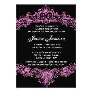 Pink Baroque Ladies Night Out Personalized Announcement
