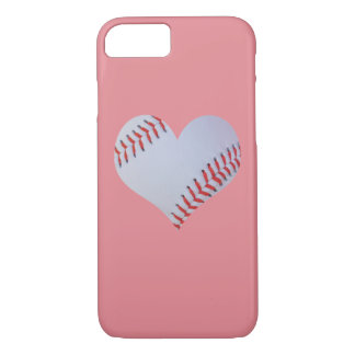 Pink baseball iPhone case