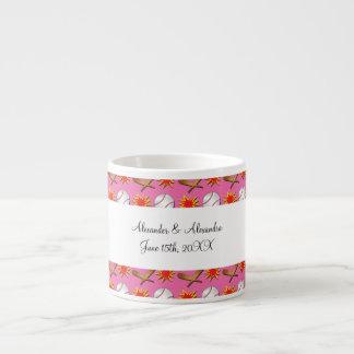 Pink baseball wedding favors espresso mug