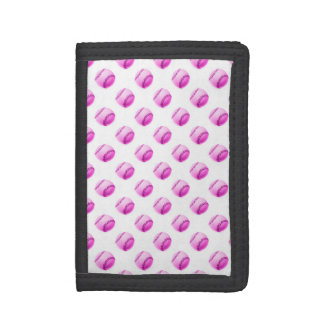 Pink Baseballs Background Baseball Balls Sport Tri-fold Wallet