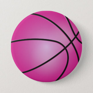 Pink Basketball 7.5 Cm Round Badge
